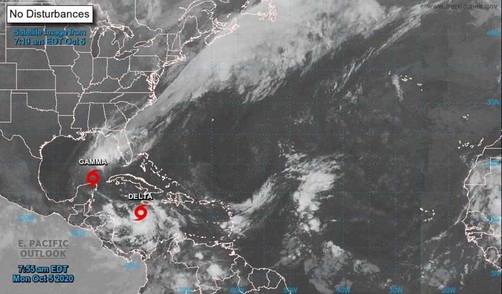 Se intensifica tormenta 'Delta' a huracán categoría 1