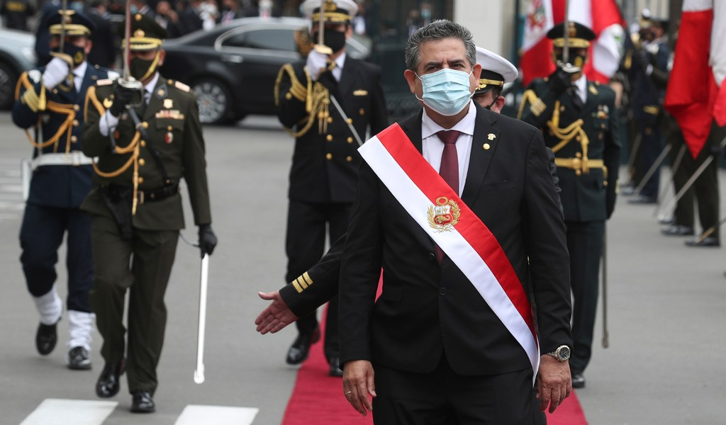 Manuel Merino, tercer presidente de Perú en cuatro años
