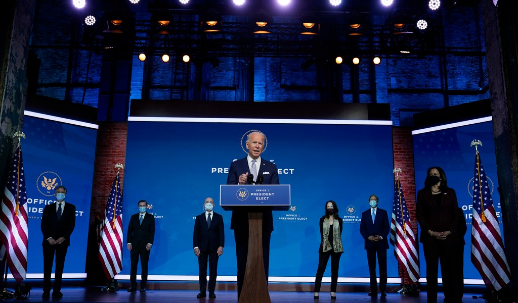 Biden, 'listo para liderar el mundo'