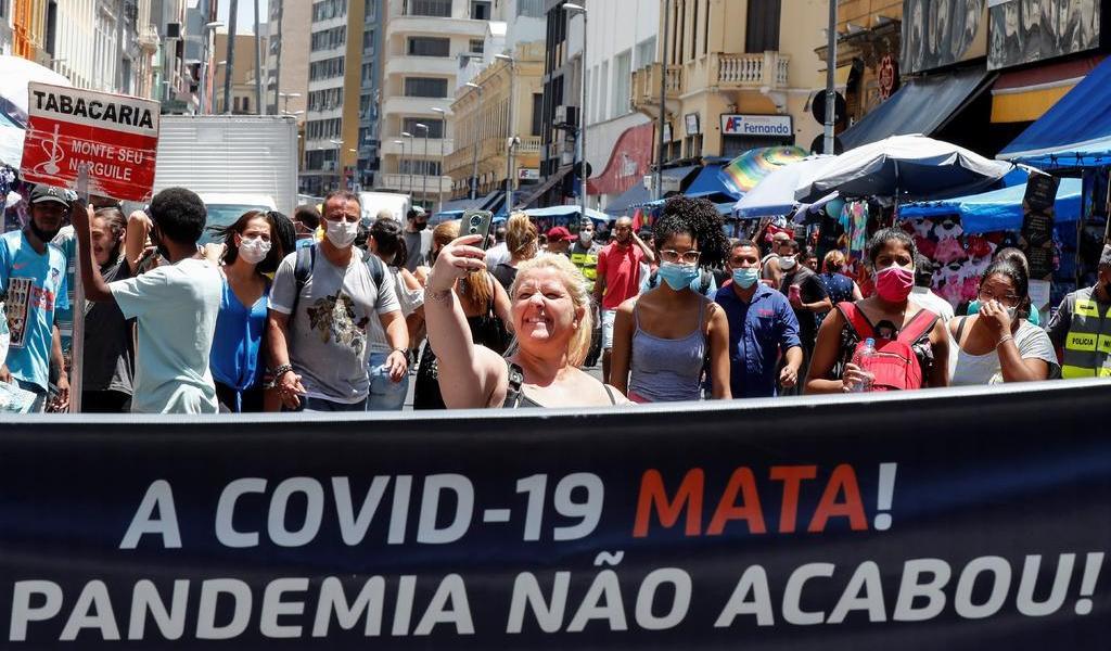 Supera Brasil los 187 mil decesos por COVID-19