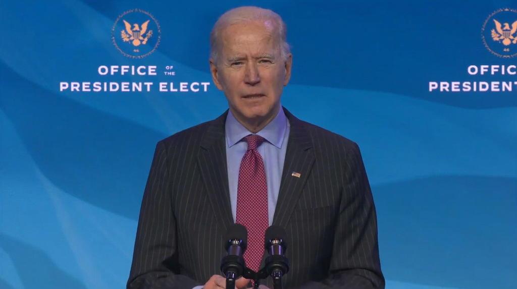 Afirma Biden que no tiene miedo de jurar su cargo al aire libre el día 20