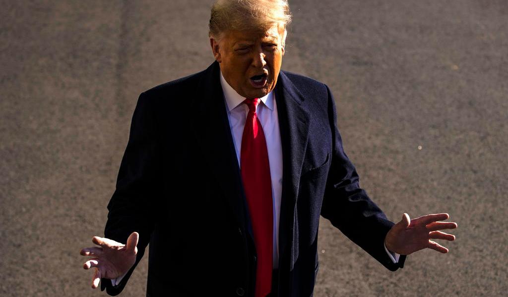 Afirma Trump que discurso a sus seguidores fue 'totalmente apropiado'