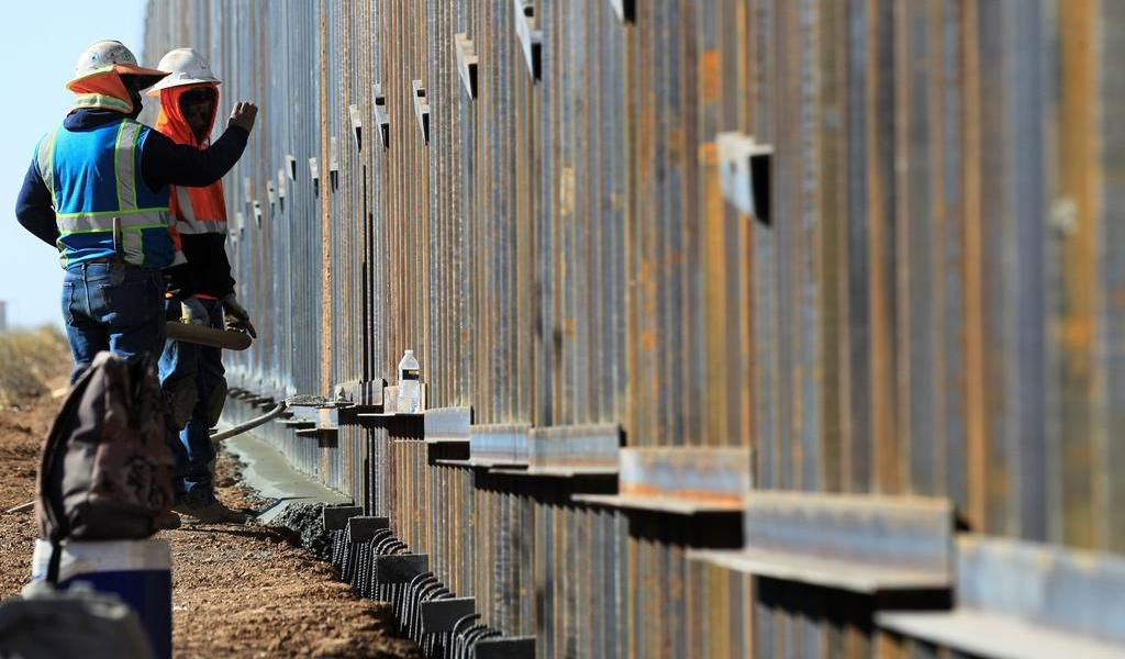 La última visita de Donald Trump al muro de  la frontera con México