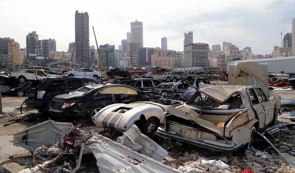 Afirma militar que trató de deshacerse de nitrato que causó explosión en Beirut