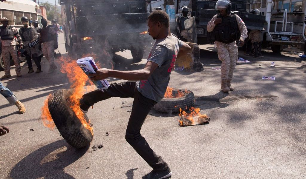Violenta protesta en Haití