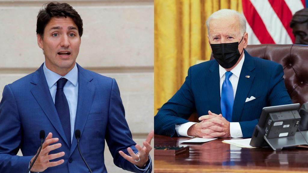Joe Biden sostendrá su primera reunión virtual con Justin Trudeau