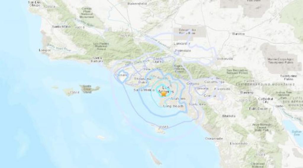 Terremoto de magnitud 4 sacude zona cercana al aeropuerto de Los Ángeles