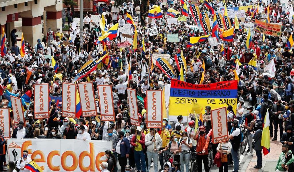 Marchan en Colombia en inicio del segundo paro nacional