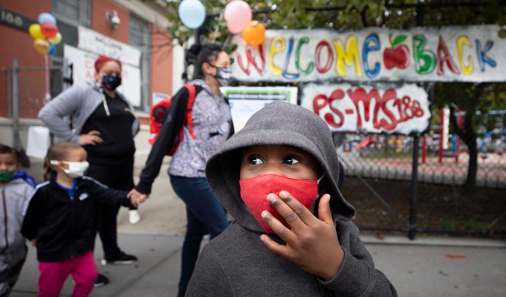 Reabrirá Nueva York escuelas por completo en septiembre sin opción remota
