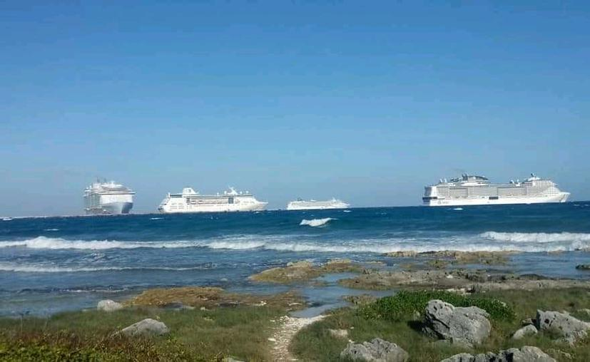 Chetumal: Fuertes vientos ahuyentan a cruceros del Puerto Grand Costa Maya