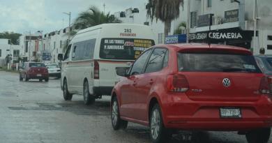 Aumenta circulación de vehículos del transporte público en Cancún