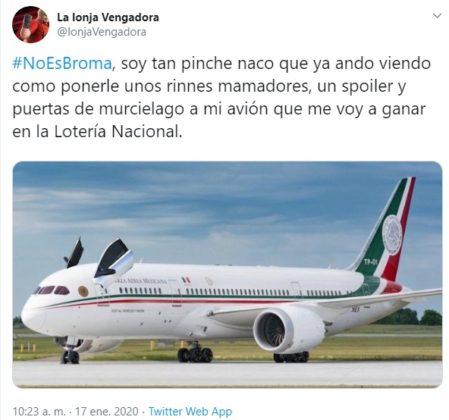 Vuelan los memes con la rifa del avión presidencial (FOTOS)