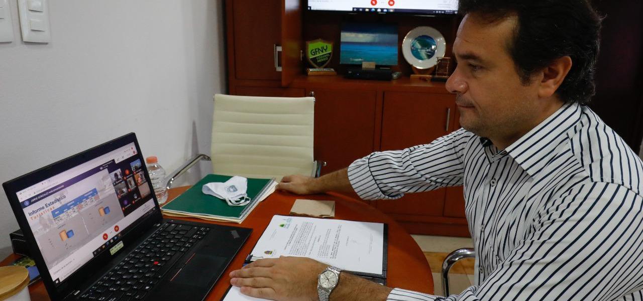 Refrenda Pedro Joaquín compromiso con autoridades portuarias para avanzar de forma segura en la reactivación económica y turística de Cozumel