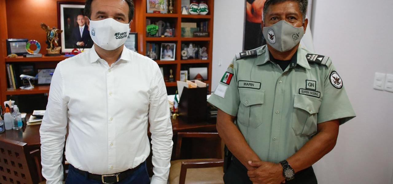 Con acciones coordinadas mantenemos a Cozumel como el municipio turístico más seguro en Quintana Roo: Pedro Joaquín