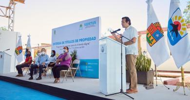 Sumamos esfuerzos, Estado y Municipio, para fortalecer la infraestructura de agua potable y brindar certeza jurídica a la gente sobre su vivienda: Pedro Joaquín