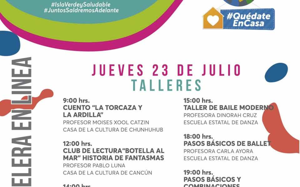 """MUNICIPIO DE ISLA MUJERES INVITA A CONECTARSE A """"CULTURA ISLA MUJERES"""""""