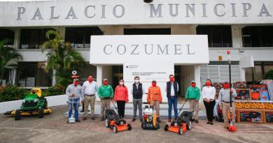 Fortalece Pedro Joaquín a la Dirección de Servicios Públicos a fin de mejorar la imagen urbana de Cozumel