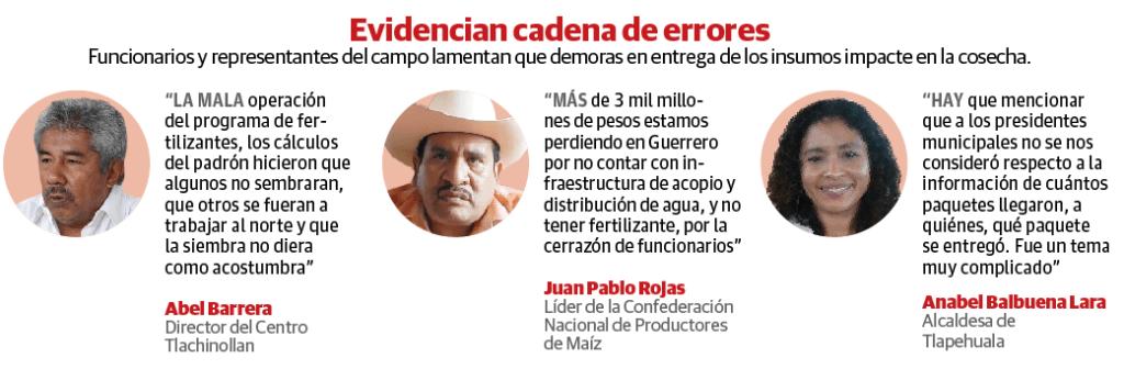Falla de Sader con fertilizante tira 50% producción de maíz en Guerrero