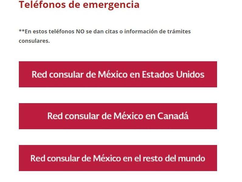 SRE protege a mexicanos en el exterior