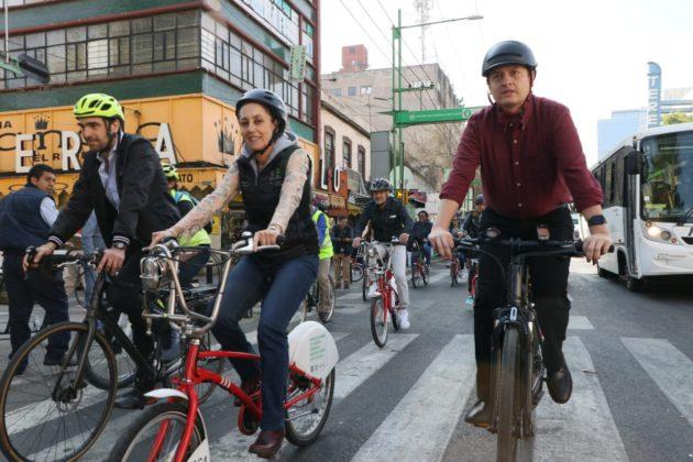 Después de cinco años, ponen en marcha Trolebús-Bici en Eje Central
