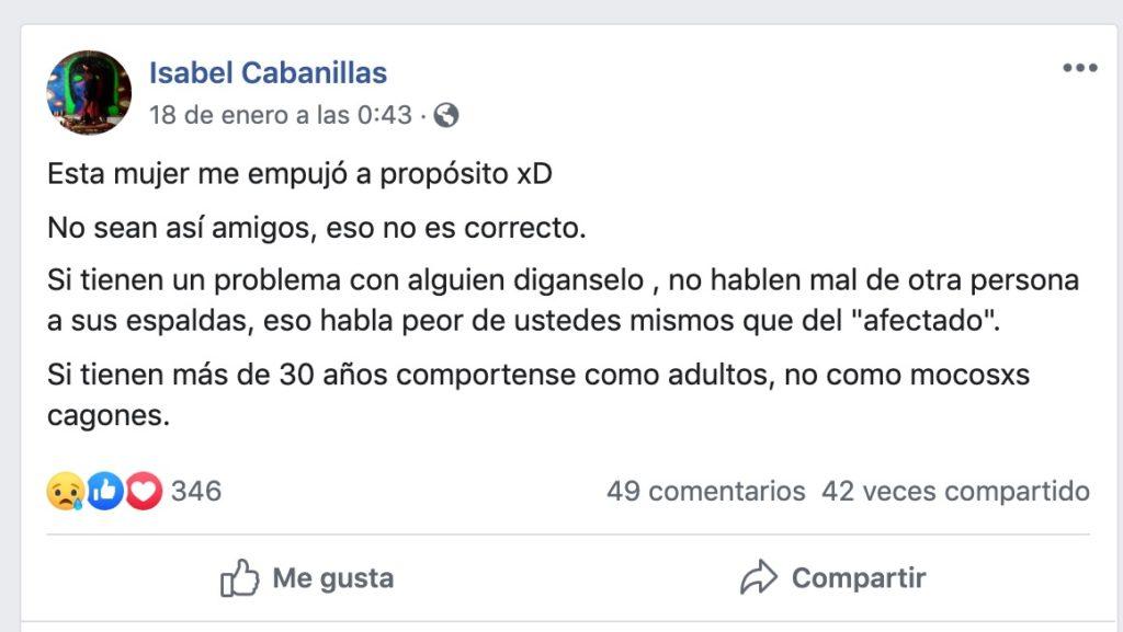 Este es el mensaje en redes de Isabel Cabanillas antes de ser asesinada
