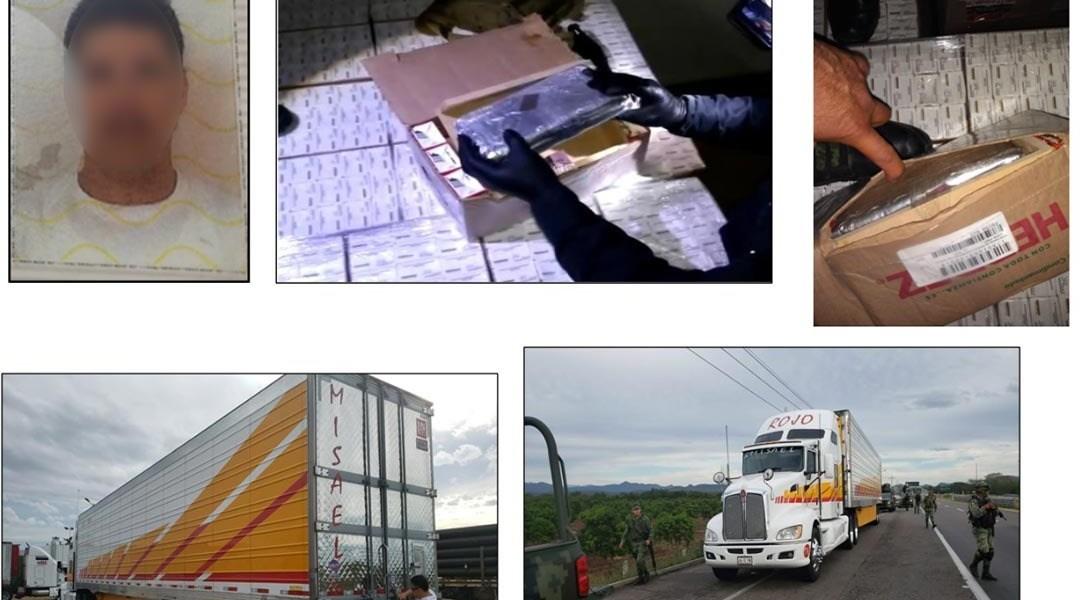Ejército asegura camión con cocaína en Villa Unión, Sinaloa