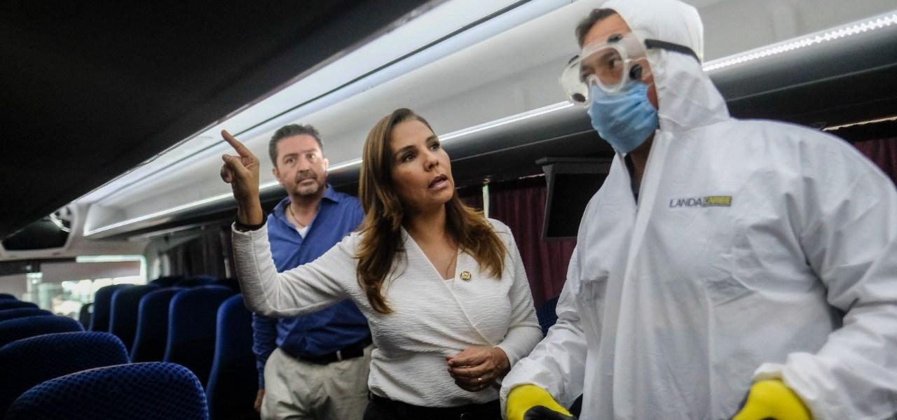 SUPERVISA E INSTRUYE MARA MEDIDAS DE HIGIENE EN MEDIOS DE TRANSPORTE