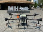 Sanitizan calles de la Miguel Hidalgo con un dron (VIDEO)