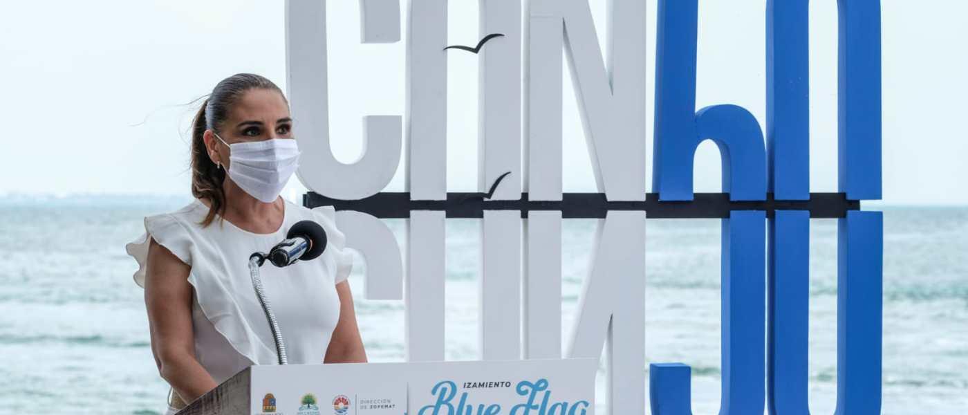 CANCÚN PRIMER LUGAR INTERNACIONAL EN GALARDONES BLUE FLAG