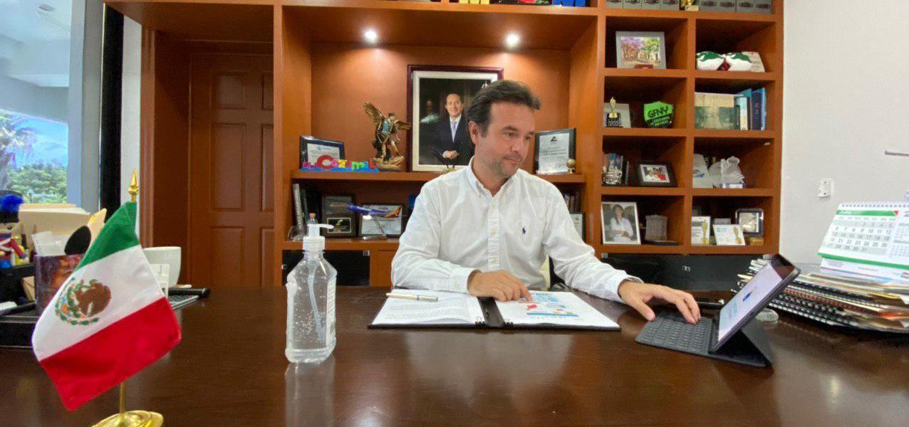 Refuerza Pedro Joaquín medidas contra el Covid-19 en Cozumel