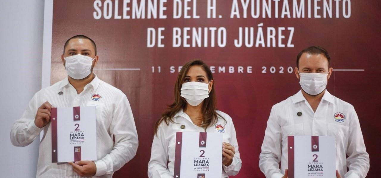 EL GIGANTE VIVE, CANCÚN ESTÁ DE PIE: MARA LEZAMA