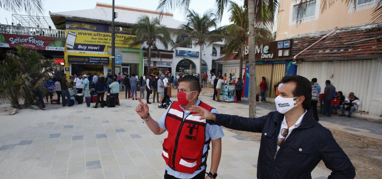 Pese al color Naranja en el norte del Estado, por sus indicadores favorables Cozumel continúa con actividades económicas correspondientes al Amarillo: Pedro Joaquín