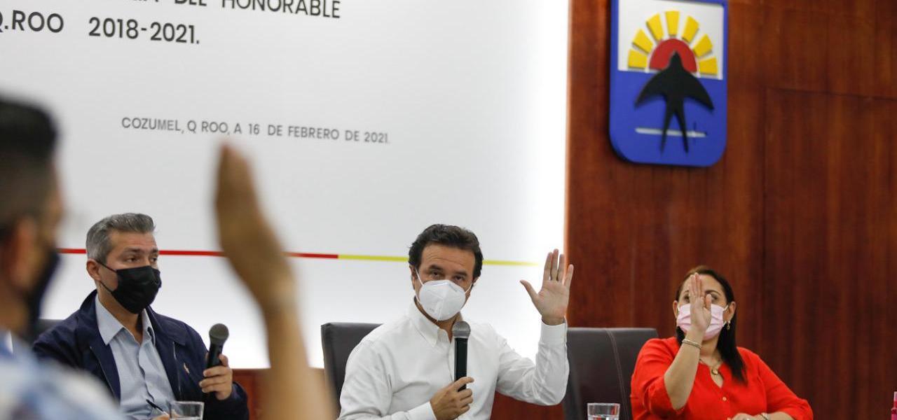 Con el respaldo del Cabildo, Gobierno de Pedro Joaquín hace justicia social con obras en beneficio de la población en Cozumel