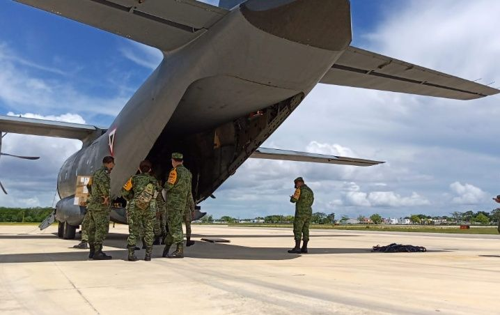 Arriba otro avión a Quintana Roo con insumos médicos contra el Covid-19