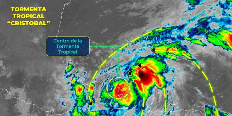 Cristóbal ocasiona lluvias en Quintana Roo