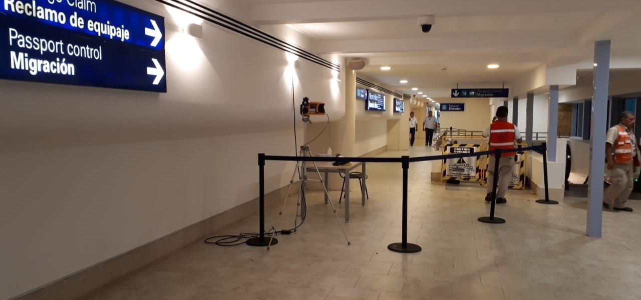 Coronavirus: Instala Aeropuerto de Cancún cámaras térmicas en filtro sanitario