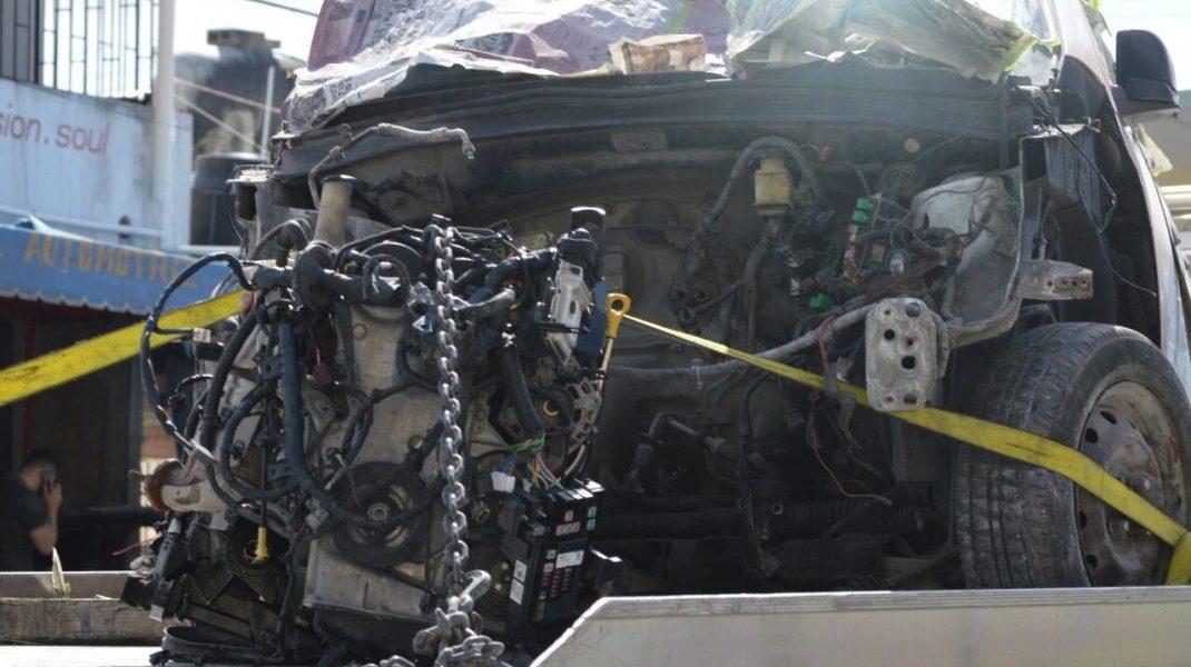 Hallan autos robados en taller mecánico de Cancún