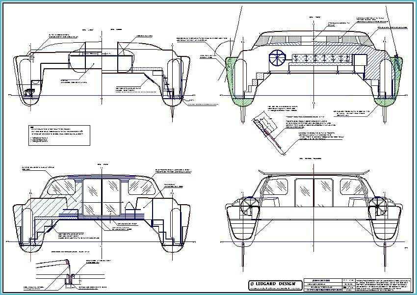 Power Catamaran Plans Hull