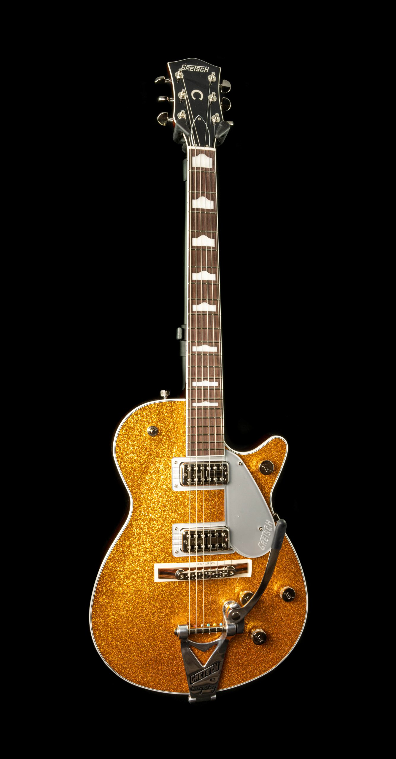 Gretsch G6129T-89 Vintage Select '89 Sparkle Jet in Gold Sparkle