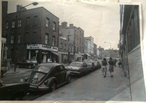 Meath street in the 1970s, Larkin butcher on the corner