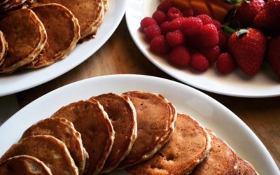 My favorite strawberry pancakes