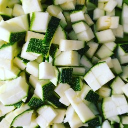 zucchini courgette cubes