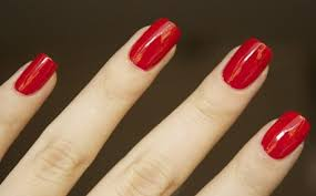 red nails long 1