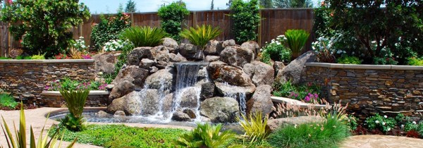 natural rock water features