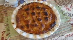 Pear Pie with Crème Fraîche Caramel