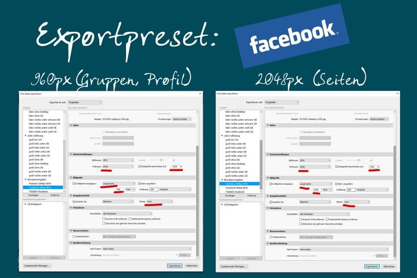 Exportpreset Facebook