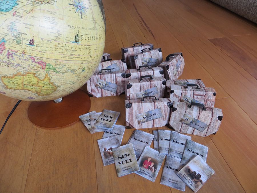 Origami Reisekoffer Schne DIYGastgeschenke  Lieben