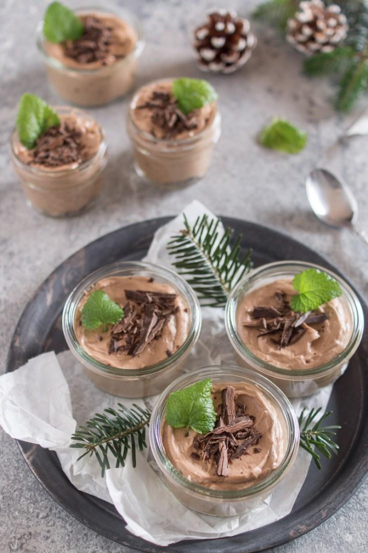 Schokomousse im Glas | Weihnachtliches Dessert im Glas