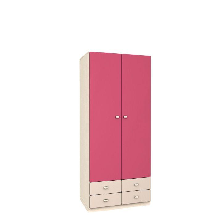 Kleiderschrank: Ich habe unten die Schubladen positioniert, weil ich dachte, die Kinder können sich dort selbst bedienen und sich ihre Anziesachen herausholen.