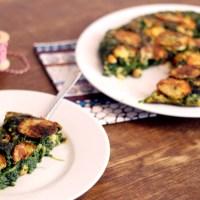 Vegane grüne Tortilla